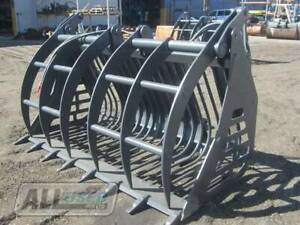 (HIRE) RAKE BUCKET WITH HYD GRAPPLE TO SUIT JCB LOADALL Kewdale Belmont Area Preview