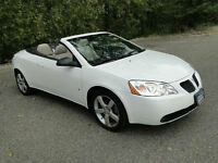 2007 White Pontiac G6 GT Convertible-Fully loaded, leather int.