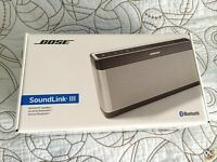 BOSE Soundlink 3 Speaker Wireless New