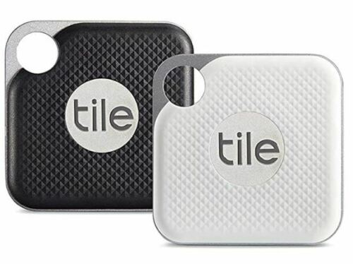 Tile Pro 4 Pack (2 x Black, 2 x White) Replaceable battery Model