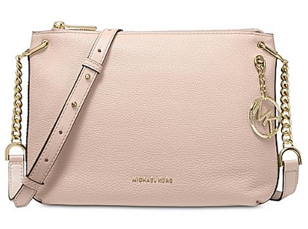 Michael Kors Lillie Pebble Leather Soft Pink-Gold Crossbody Bag
