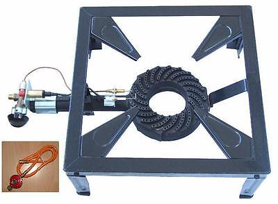 10,5 KW Gaskocher Profi 4 Fuß Hockerkocher10,5 KW 40 cm 18 cm Brennerdurchmesser