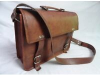 NEW HANDMADE REAL LEATHER SATCHEL BAG