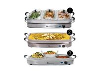 Large buffet food warmer and hot plate