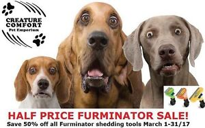Half Price Furminator DeShedding Tool Sale!
