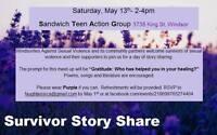 Survivor Story & Gratitude Share