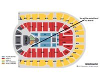 One Justin Bieber Platinum Ticket BLOCK A1 ROW B Fri 14th Oct