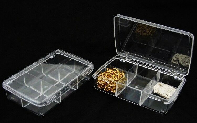 Set Of 2 Acrylic Storage/Organizers With Twelve Compartments