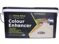 Driveway monoblock and concrete colour enhancer and sealant