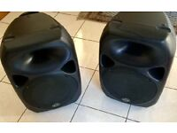 Pair of active wharfdale speakers and Titan Sub