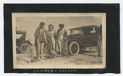 1920s Circus Costume (THREE CIRCUS PERFORMERS, WOMEN IN COSTUME, EARLY MODEL CARS. B W)