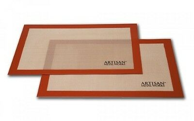 Artisan (2 pk.) Non-Stick Silicone Baking Mat Set, 16 5/8 x 11, New