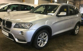 Silver BMW X3 2.0TD Auto 2012 xDrive20d SE FROM £62 PER WEEK!