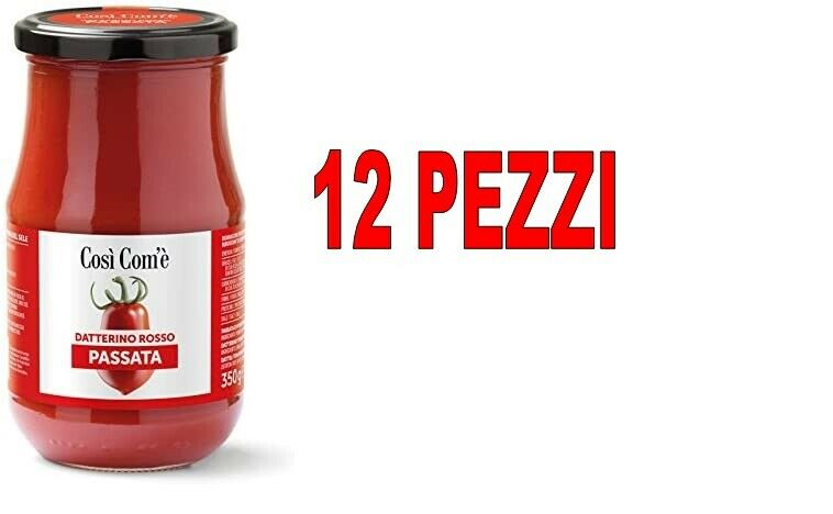 Pack Of 12 Piece Sparring Italian Datterino Red Cosi Com'E' 350 Gr