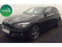 £226.39 PER MONTH BLACK 2013 BMW 114 1.6D SPORT 5 DR DIESEL MANUAL