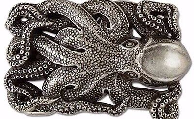 """Tandy Leather 1770-49 Octopus Trophy Buckle 1-1/2"""" (38 mm)  Free Shipping to US!"""