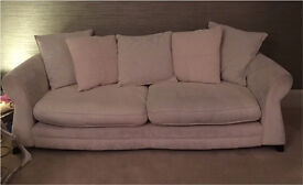 DFS large cream sofa settee suite 2 available