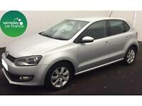 £127.39 PER MONTH SILVER 2013 VW POLO 1.2 TDI MATCH 5 DOOR DIESEL MANUAL