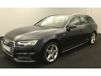 Blue AUDI A4 AVANT ESTATE 1.8 2.0 TDI Diesel SPORT S LINE FROM £93 PER WEEK!
