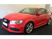 Red AUDI A3 SALOON 1.4 1.6 1.8 2.0 TDI Diesel SPORT S LINE FROM £62 PER WEEK!