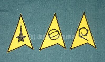 Star Trek The Animated Series (TAS) Insignia Set (Command, Sciences Engineering)