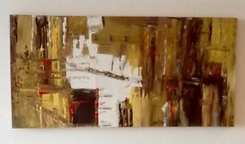 "Original hand painted canvas:""Gold rush ""100x50cm"
