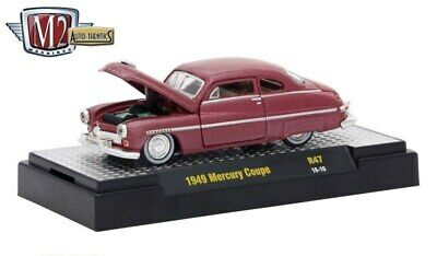 `49 Mercury Custom Coupe  Maroon 1949 ** M2 Machines 1:64 OVP  Maroon Coupe