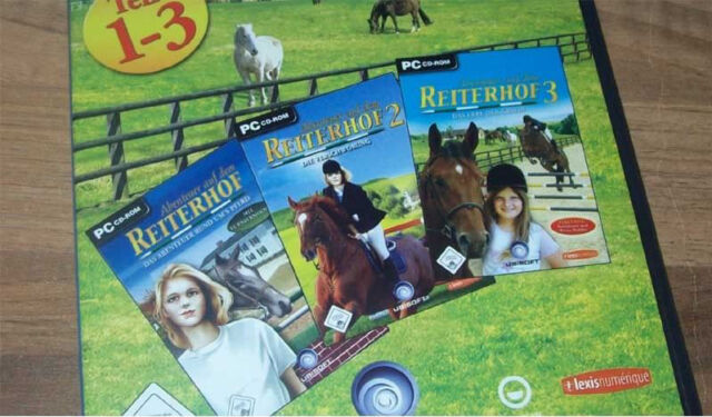 Abenteuer auf dem Reiterhof Teil 1 + 2 + 3 PC Sammlung alle Spiele in 1 Auktion