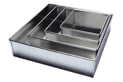 SET OF 4-PIECE SQUARE SHAPE CAKE BAKING PANS BY EURO TINS 6