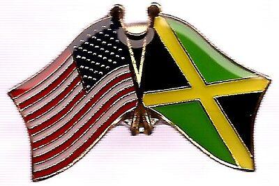 LOT OF 3 Jamaica Friendship Flag Lapel Pins - Jamaican Crossed Flag Pin