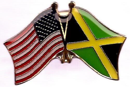LOT OF 12 Jamaica Friendship Flag Lapel Pins - Jamaican Crossed Flag Pin