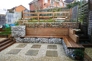 Gabion Basket Garden Retaining Wall Water Erosion flood Control