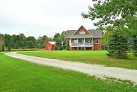 Gorgeous dream house in the country on 1.4 acres!