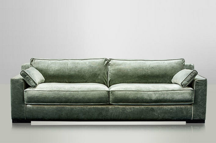 Samt Sofa 3 Sitzer Josua