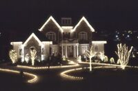 Professionally installed Christmas lights