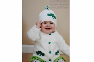 Personalized Knitted Baby Sweater and Hat