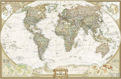 Vintage Nostalgic Retro Classical Antique Canvas Map World Map 112*75CM  on Rummage