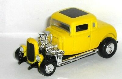 AMERICAN GRAFFITI / 1932 32 FORD 5 WINDOW COUPE Rubber Tire Car / FREE SHIPPING