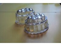 Small Vintage Glass Jelly Moulds VGC