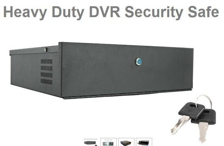 CCTV DVR Grey Metal Safe Security Lock Box Regular Large and Extra Large