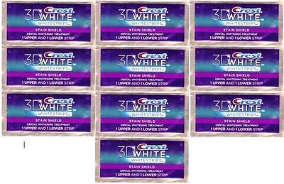 Crest 3D Whitestrips Stain Shield 20 strips (10 pouches) Whitening on Rummage
