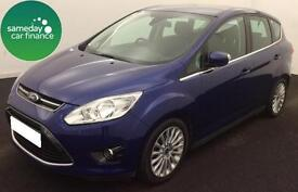 £205.06 PER MONTH BLUE 2015 FORD C-MAX 1.6 TDCi TITANIUM 5 DOOR DIESEL MANUAL