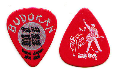 Cheap Trick Rick Nielsen Signature Budokan Red Guitar Pick - 2008 Tour