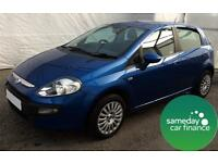 ONLY £99.28 PER MONTH BLUE 2010 FIAT PUNTO EVO 1.4 DYNAMIC 5 DOOR PETROL MANUAL