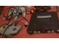 Nintendo 65 (N64) with games