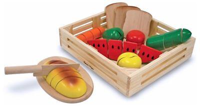 Melissa & Doug WOODEN CUTTING FOOD Pre-School Young Children Wooden Toys BN