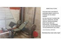 Marcy multi gym, caters for all kinds of exercises, see image.