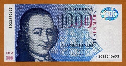 Finland, 1000 Markkaa 1986 (1991)  P-121 Lit. A pre-Euro Gem UNC > Highest Denom