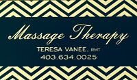 MASSAGE THERAPY.....direct billing to BLUE CROSS and E transfer
