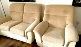 2 seater sofa & single arm chair